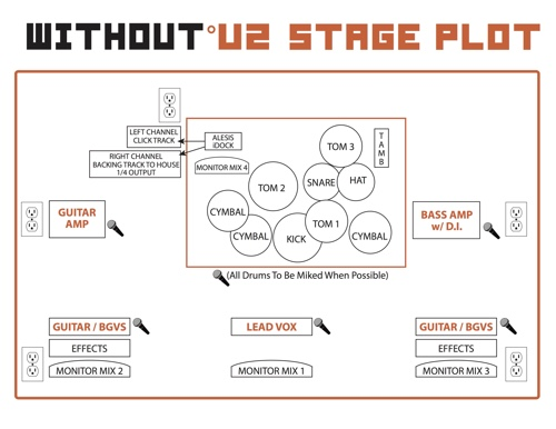 Promo without u2 for Stage plot template